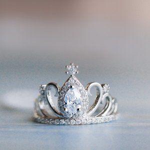 Princess Ring Tiara Ring Crown Ring Crystal Ring